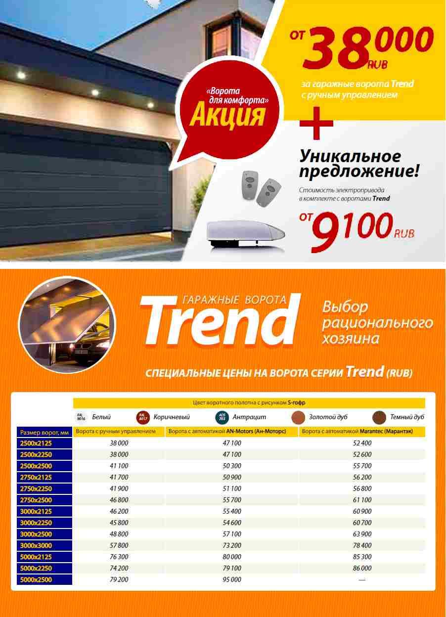 Акция гаражные ворота Alutech Trend